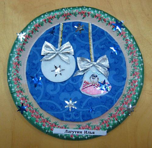 Новогодние поделки из пластиковых тарелок своими руками